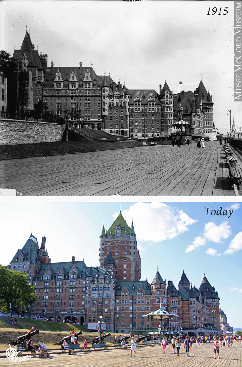 Chateau Frontenac then and now