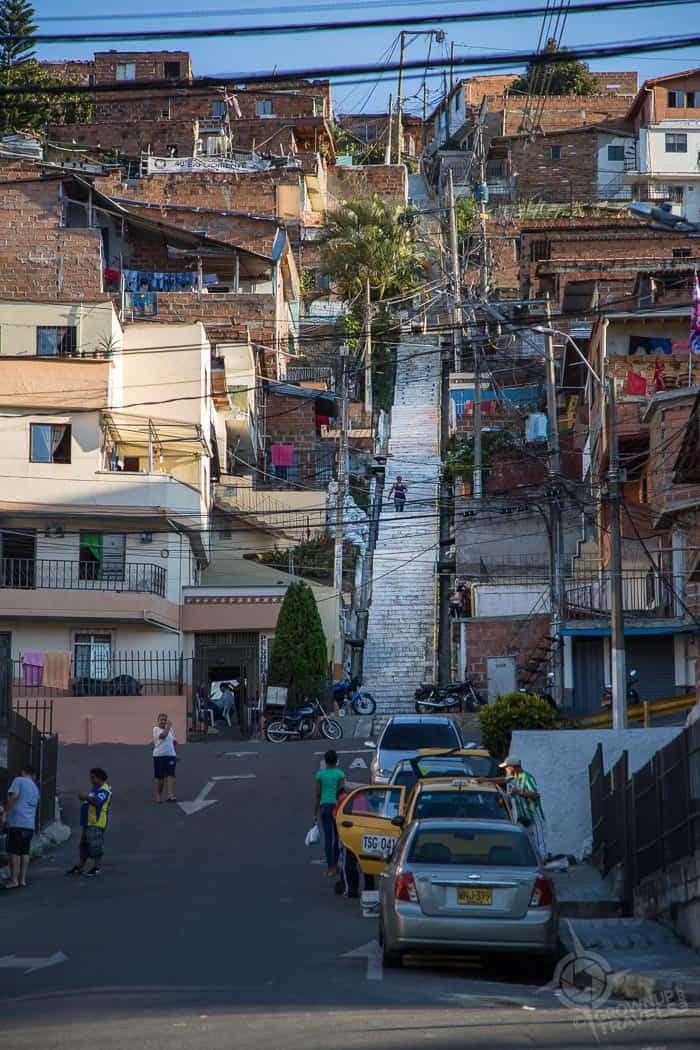 Steep Stairs in Comuna 13