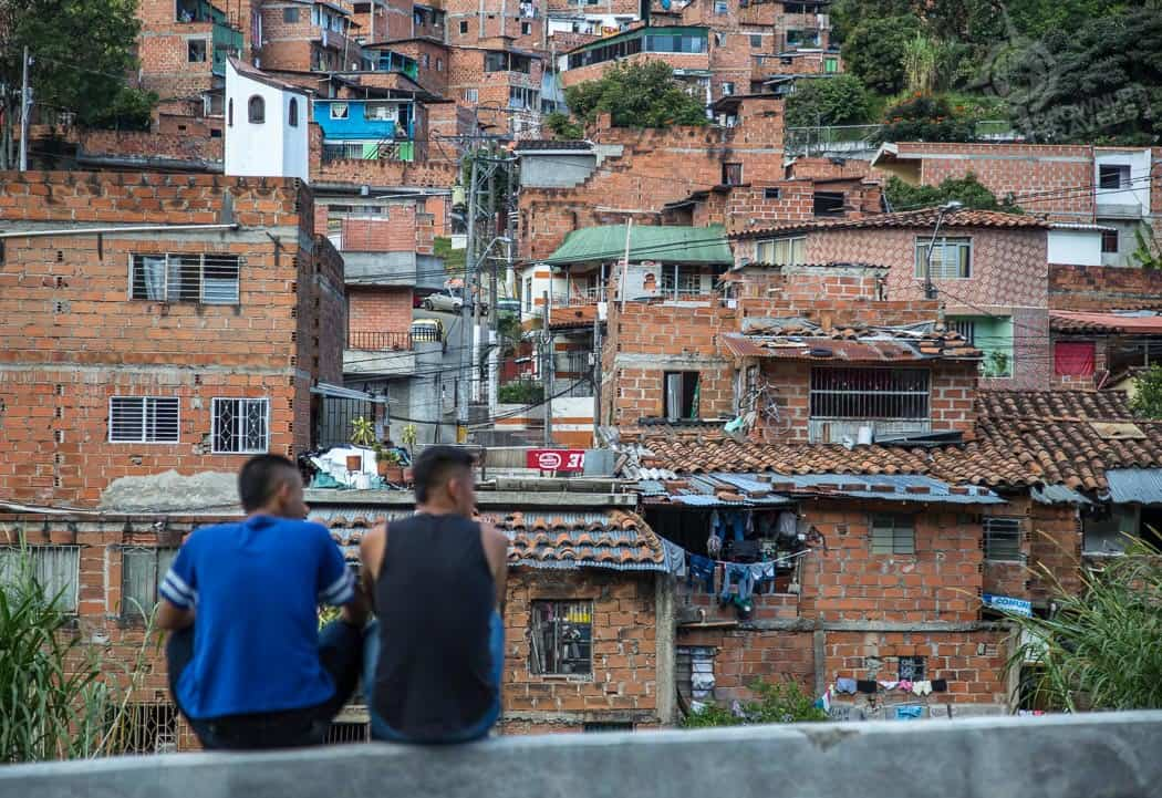 Young men in the barrio Medellin
