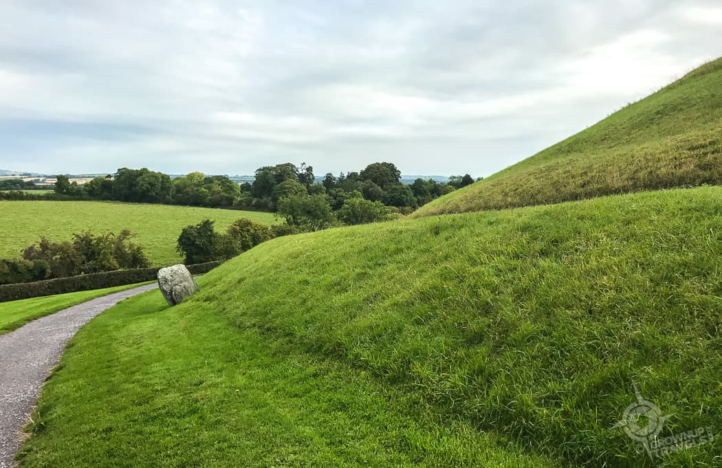 Newgrange side of passage tomb