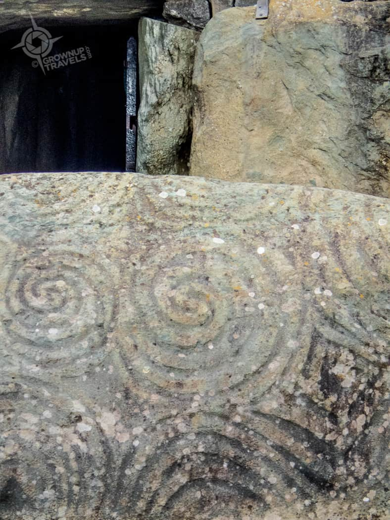 Large stone at Newgrange entrance