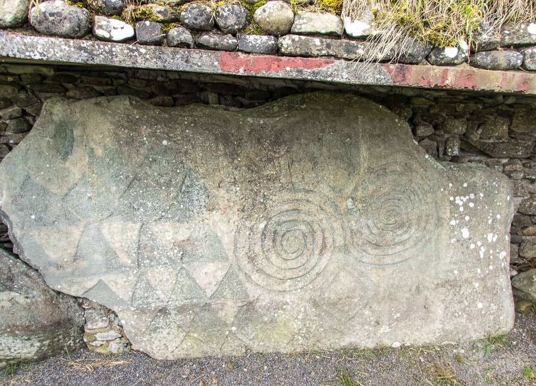 Spiral designs at Newgrange Tomb