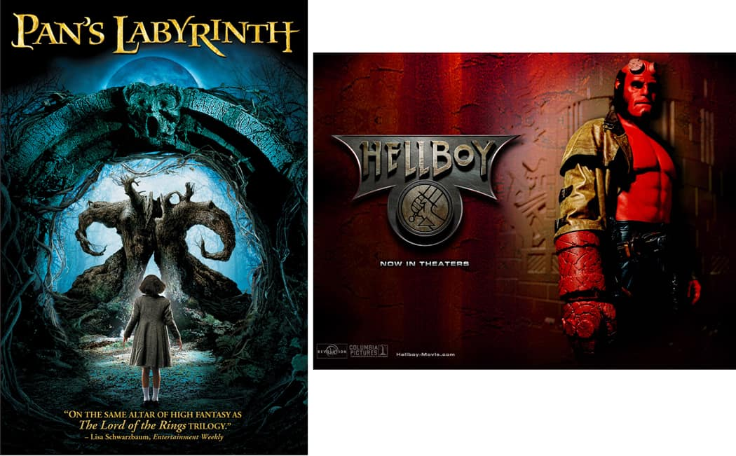 Guillermo del Toro movie posters
