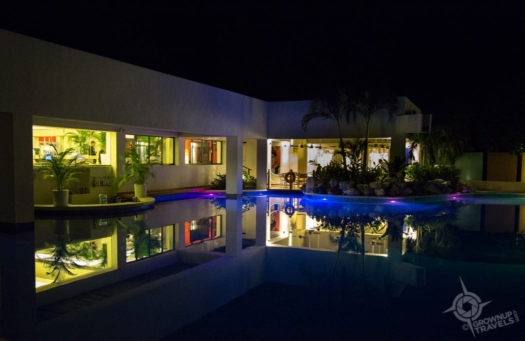Grand Oasis Tulum at night