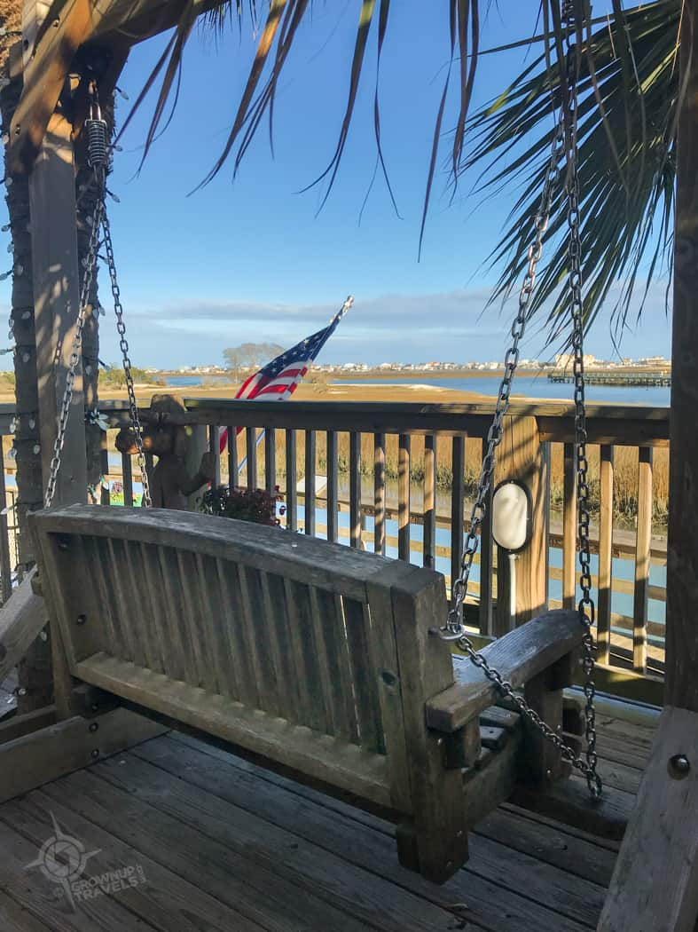 Porch Swing at Murrells Inlet