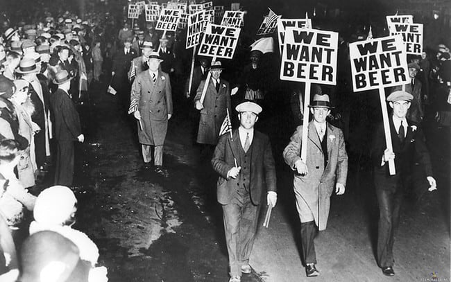 prohibition image We Want Beer