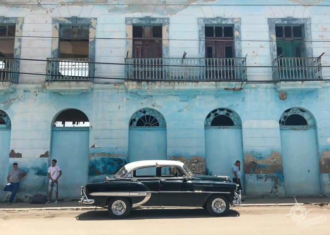 Old car in Sagua la Grande Cuba