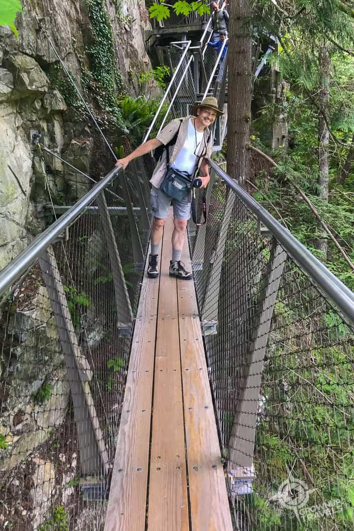 Henk on Capilano cliffwalk