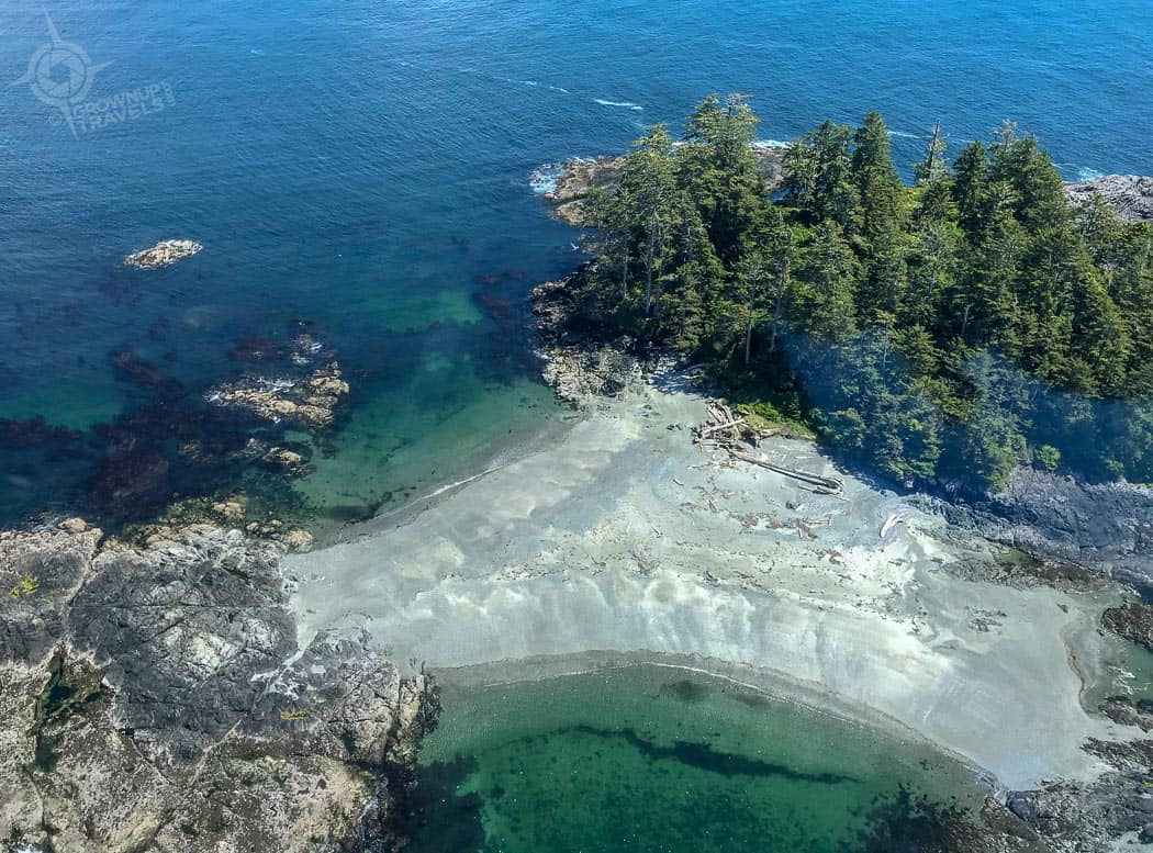 Clayoquot Sound helicopter view