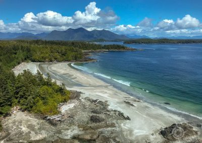 Beach in Clayoquot Sound from the air