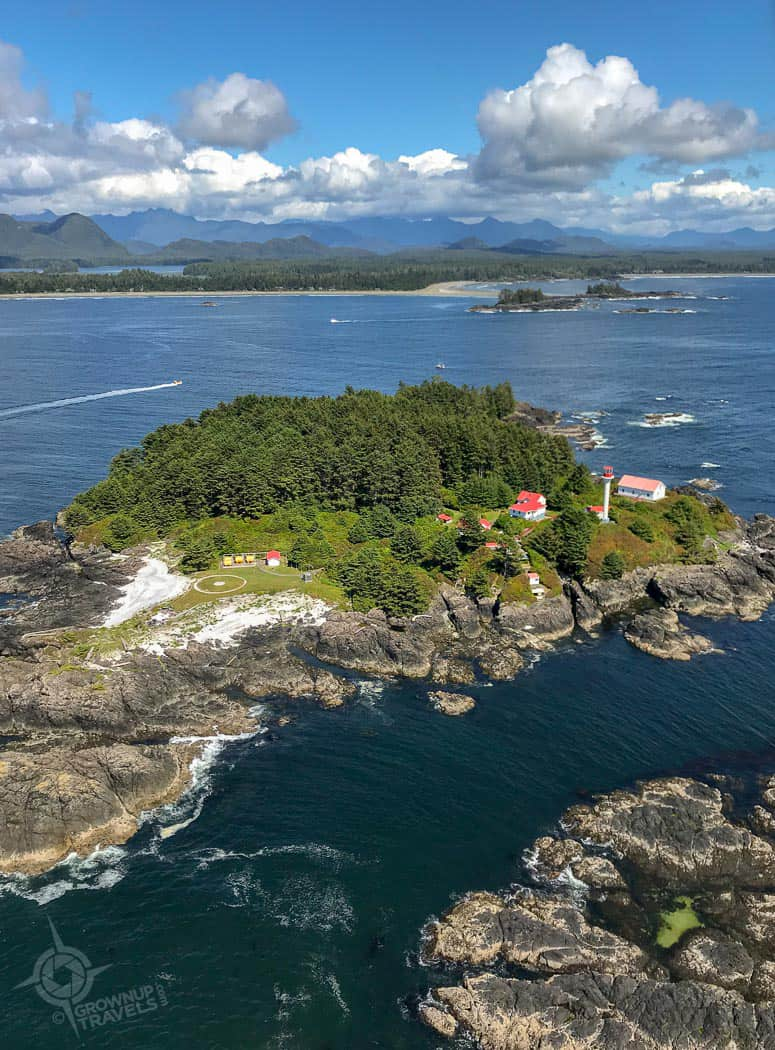 Lighthouse from Helicopter Tour Tofino