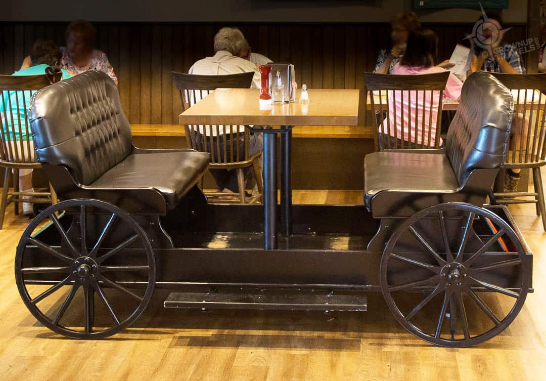 Buggy Booth at Anna Mae's restaurant