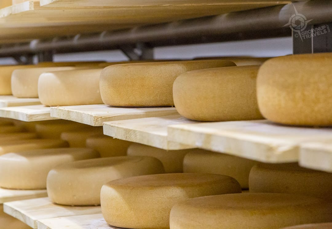 Cheese aging at Stonetown Cheese Perth County