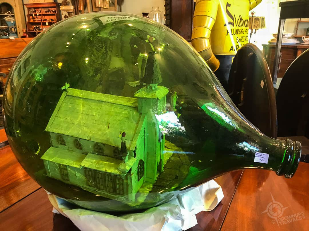 Church-in-a-bottle at Land and Ross Antiques
