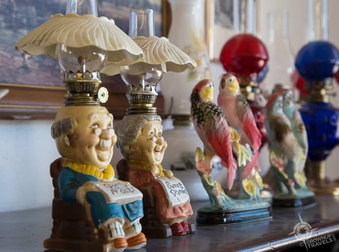 Kitsch lamps at Needful Things Mitchell Ontario