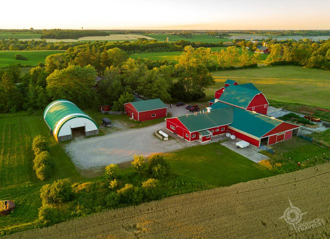 Transvaal Farm Buildings from drone