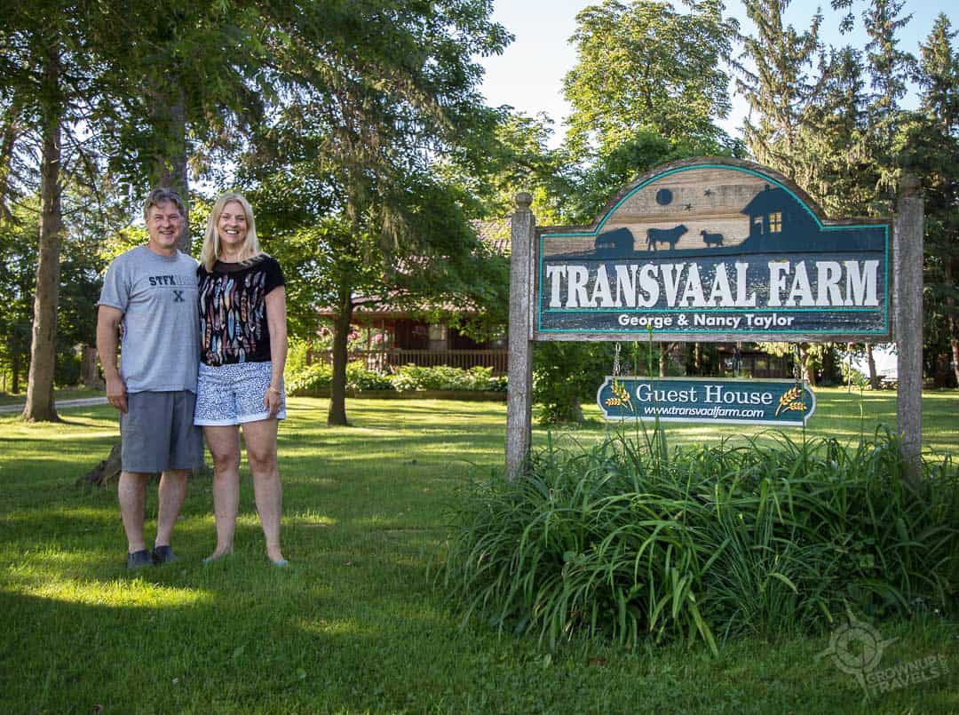 Scott and Jane at Transvaal Farm Perth County
