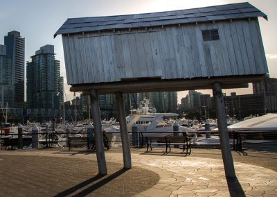 Vancouver waterfront stilted fishing hut British Columbia