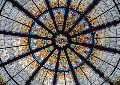 Stained glass roof Empress hotel Victoria