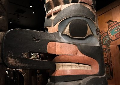 Totems at Royal British Columbia Museum Victoria