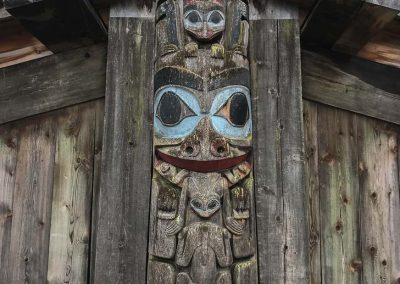 Longhouse Totem at Museum of Anthropology Vancouver