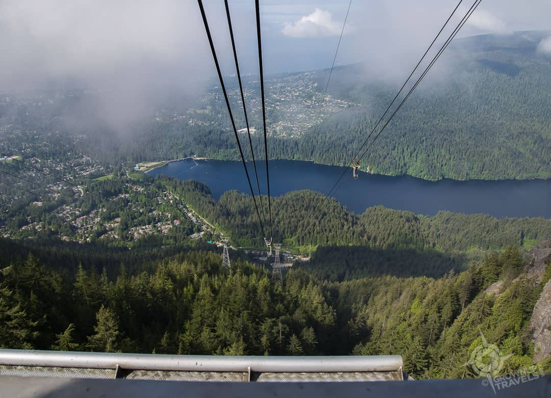 Grouse Mountain view of Cleveland Dam