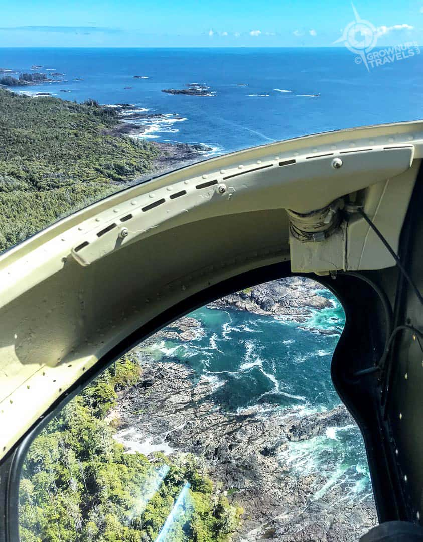 View from Helicopter of Tofino