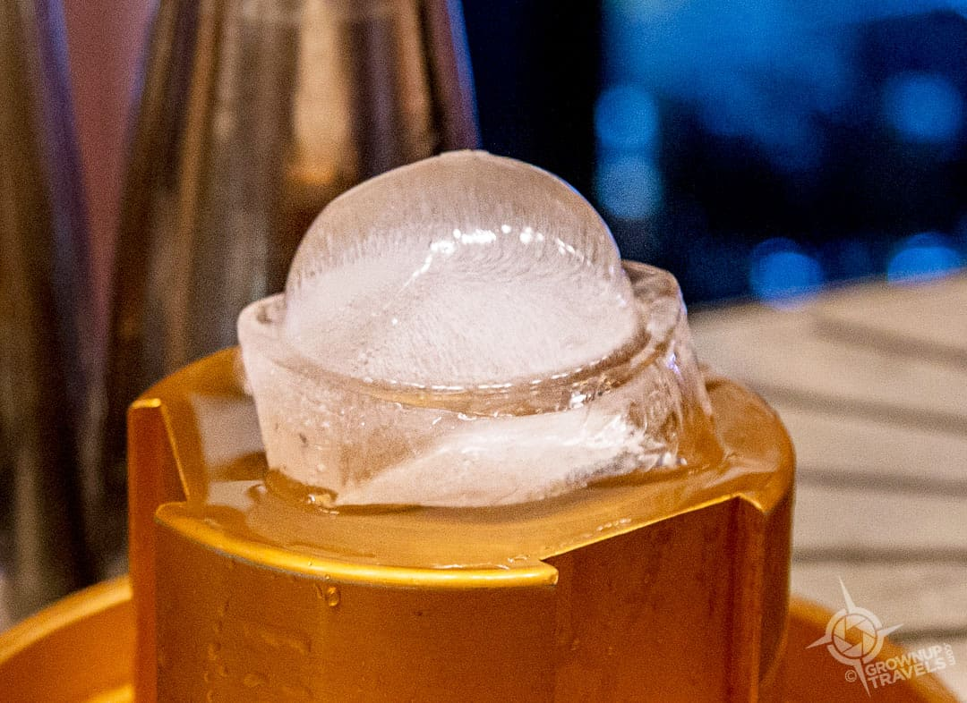 Spherical Ice Cub being made Tofino