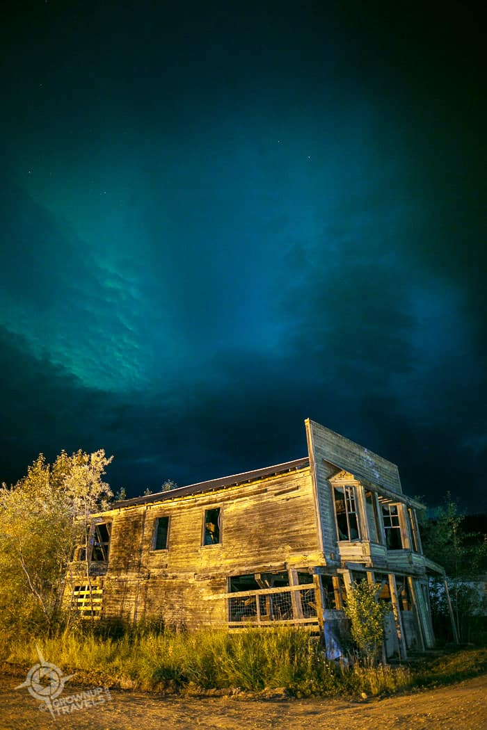 Dawson yukon building northern lights