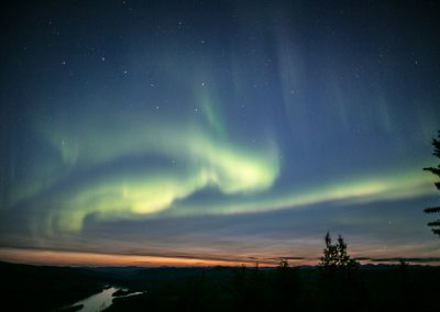 Northern Lights from Midnight Dome Dawson City
