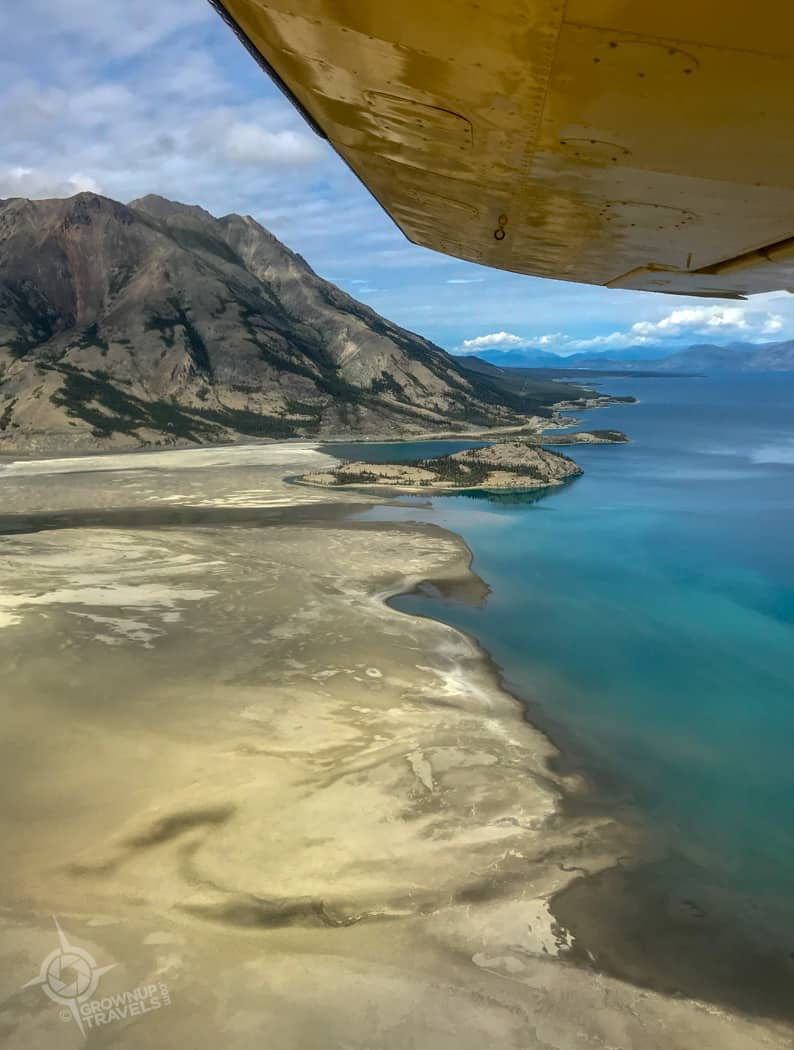 Sheep Mountain Kluane Lake from plane
