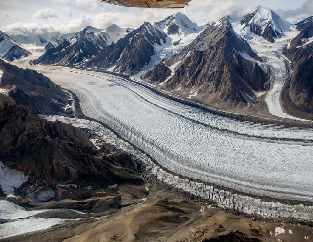 Yukon Glacier Ice Fields aerial