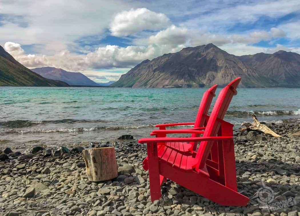 Red chairs at Kathleen Lake Yukon