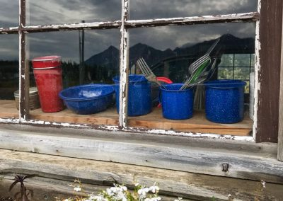 Mount Logan Lodge cabin window