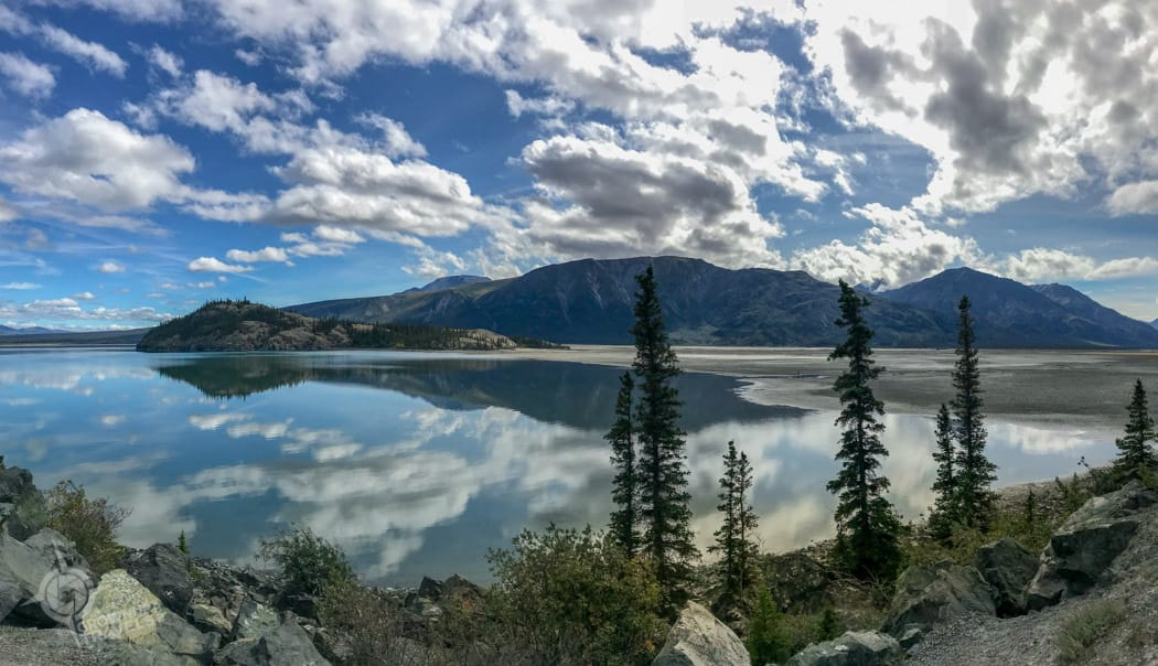 Reflections in Kluane Lake Yukon