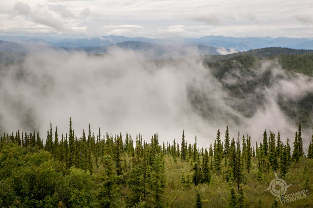 Mist on the Top of the World Highway Yukon