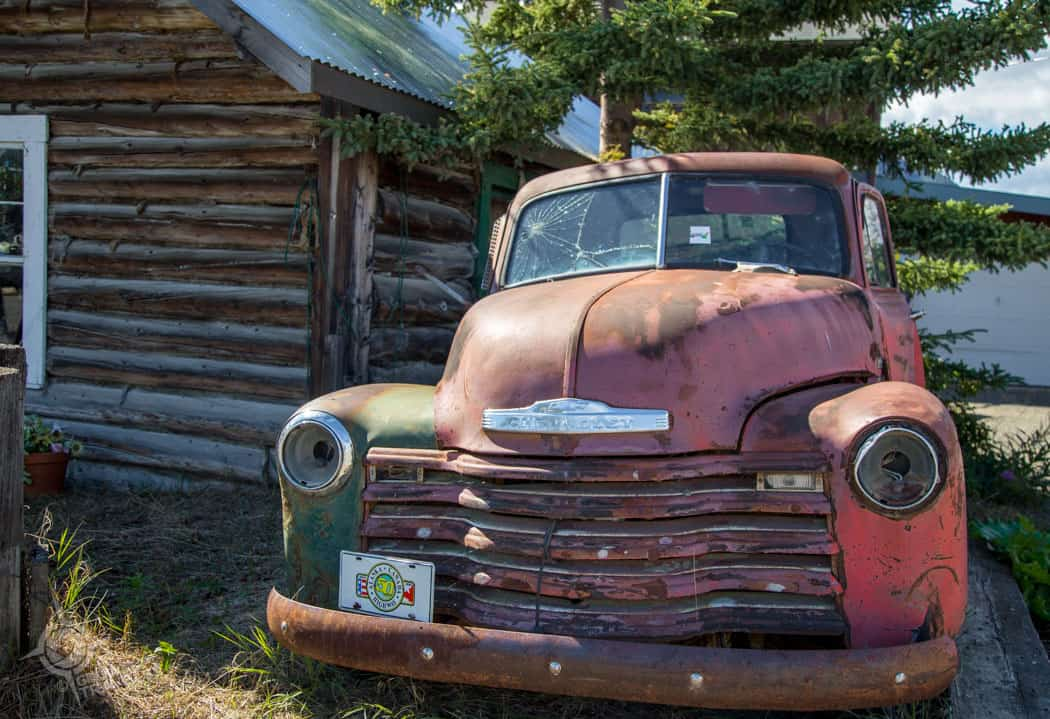 Carcross rusted truck