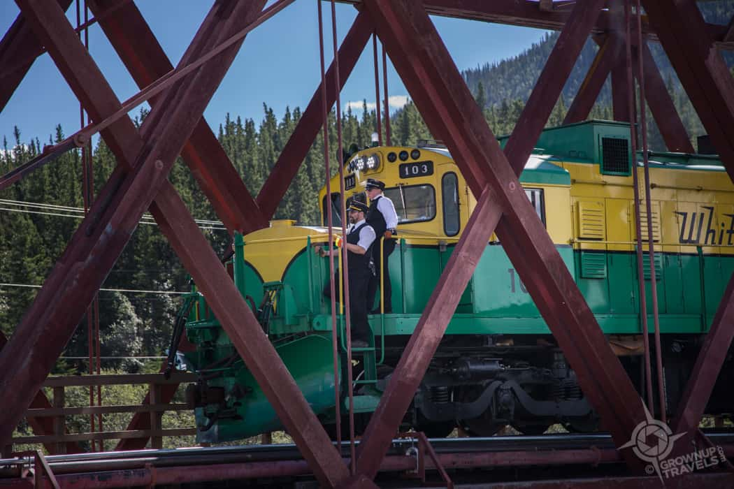 White Pass Train arriving Carcross