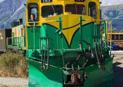 White Pass train engine Carcross