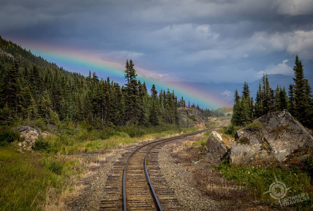 Rainbow on White Pass Yukon train route