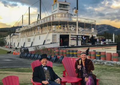 Jane and Henk in Costumes SS Klondike