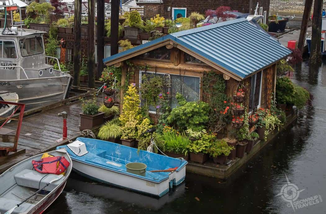 Floating House at Gibsons Landing BC