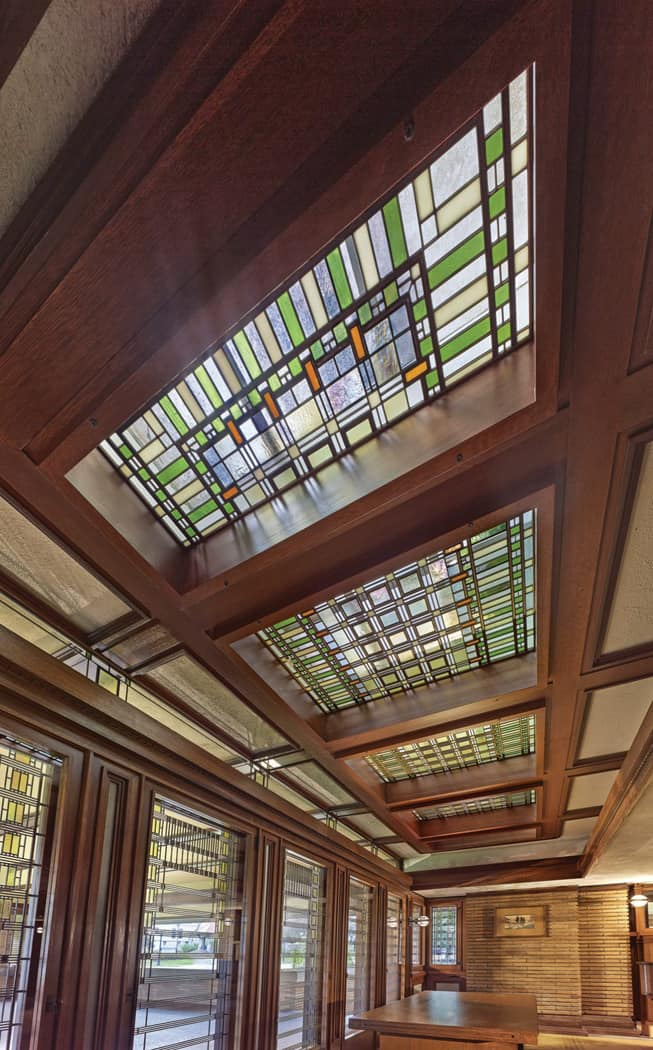 Martin House skylights Photo Credit Biff Henrich
