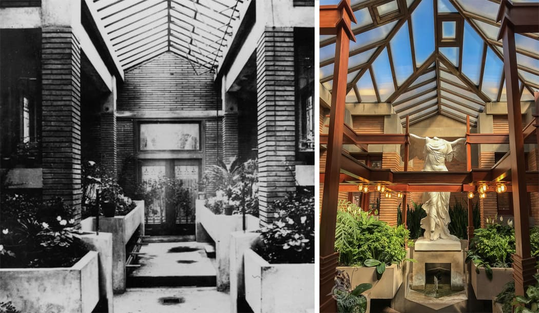 Martin House Conservatory original and restored