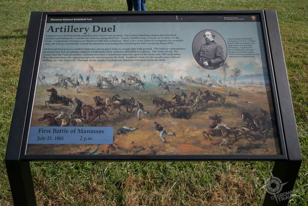 Battle of Bull Run historic plaque