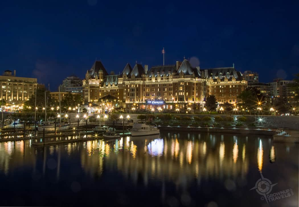 Fairmont Empress Hotel at Night Victoria