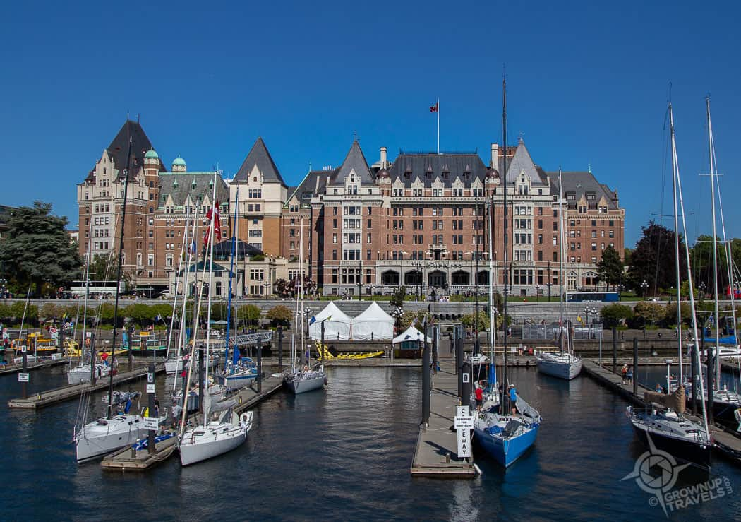 Fairmont Empress Victoria from water