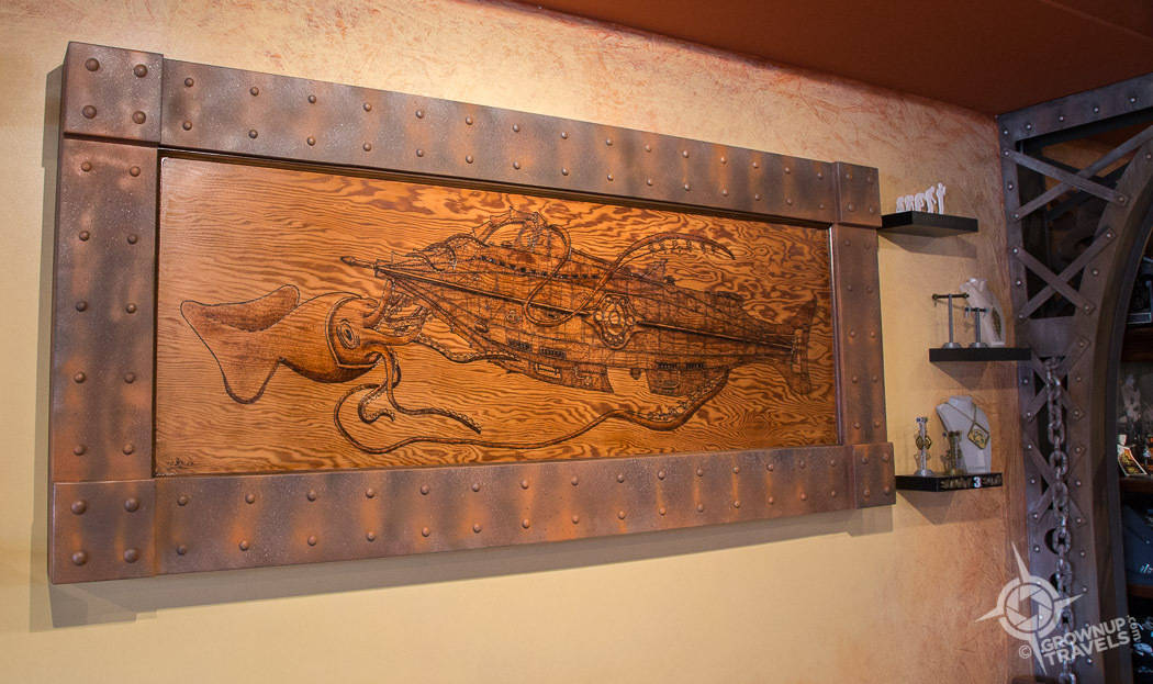 Steampunk Cafe Nautilus artwork Port Alberni