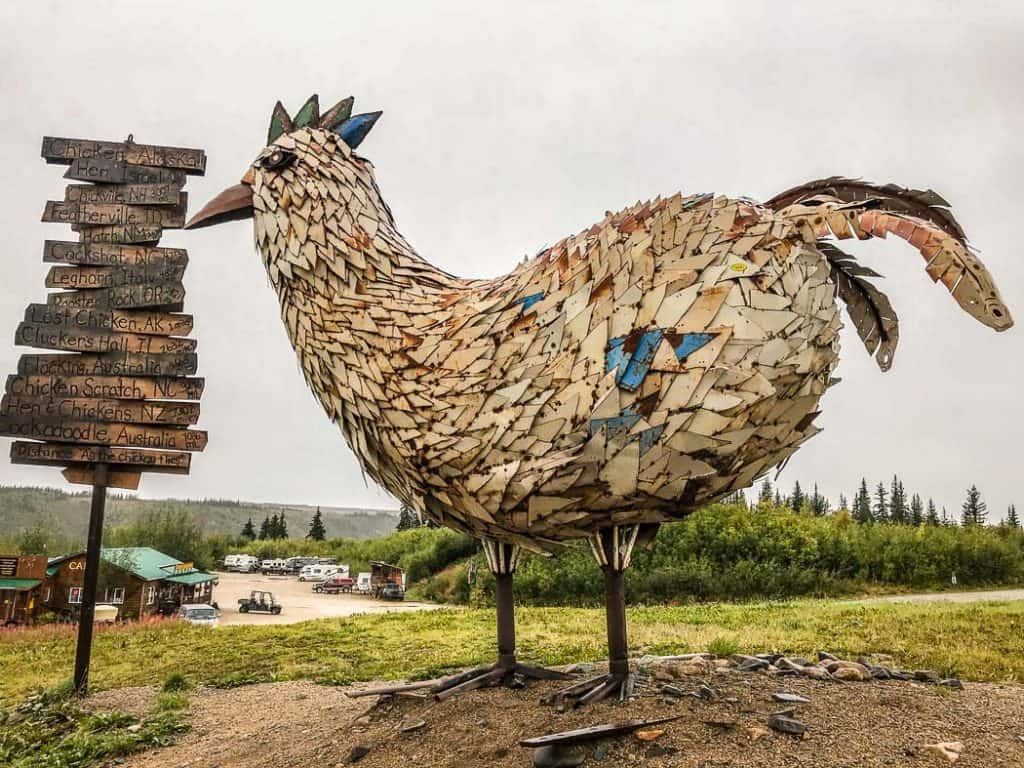 The giant chicken in Chicken Alaska