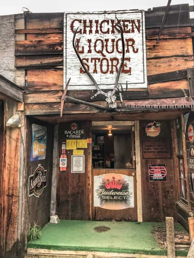 Chicken Alaska liquor store